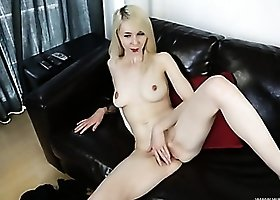 Stripping British punk babe gives you sexy JOI