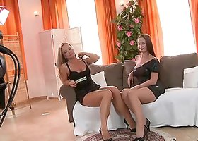 Cindy Dollar and Silvia Saint lick and finger each other