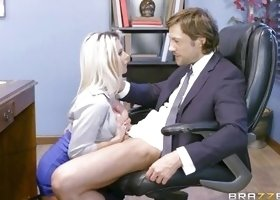 Busty Ladies Entertain Their Boss