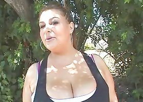 Chubby With Big Tits In Bra Yelling While Being Drilled