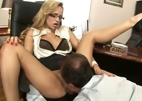 Hottest pornstars George Uhl and Aleska Diamond in incredible office, anal porn movie