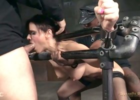 Buxom hottie Syren De Mer gets treated like a cheap whore in the dungeon