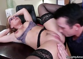 Perfect pornstar office sex film