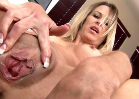 Tattooed mom Rebecca Time and her dildo