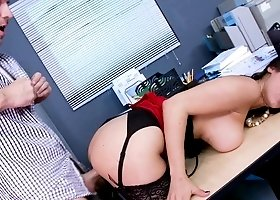 Lusty lady got banged in her office