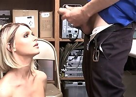 Shoplifter Emma Hix gets bang in the office by LPs knob