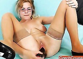 Mommy licking boob and masturbating
