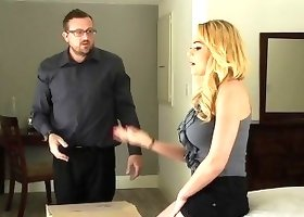 Blonde milf is a cock-swallowing addicted hooker