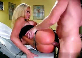 Blonde milf Summer Brielle Taylor with hot hooters taking part in action