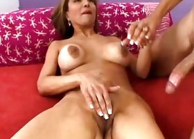 Cougar Spreads Her Pussy Lips