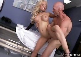 Tempting busty Helly Mae Hellfire in hot medical porn