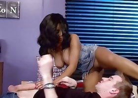 Hottest all-natural ebony is swallowing a huge British wiener