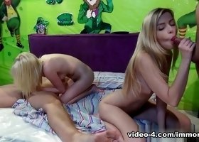 Fabulous pornstars Molly Bennett, Abigaile Johnson in Crazy Group sex, Blonde adult movie