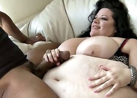 Gorgeous SSBBW fucking the black pornstar with a huge cock