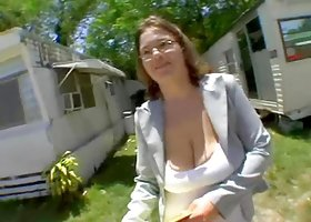 Busty Chubby Woman Fucked In A Van.