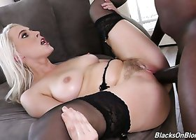 Huge black meat pole drilling Cadence Lux's pink pussy balls deep