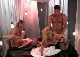 Huge bimbo Jenteal being a part of wild passionate group sex