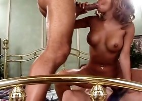 Blonde Asian Bamboo Takes On 2 Cocks