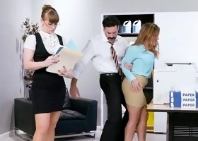 New secretary fucked at work and made to swallow