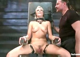 Classy Anikka Albrite having a real BDSM experience