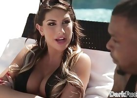 August Ames loves black monster cock